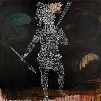 'Le bon sauvage' 120 x 120 cm2